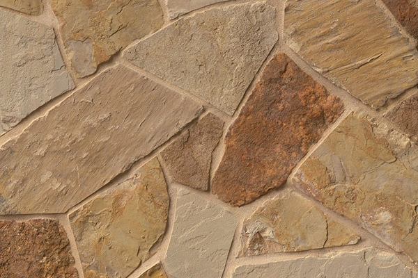 Antique Brown & Gold Flagstone